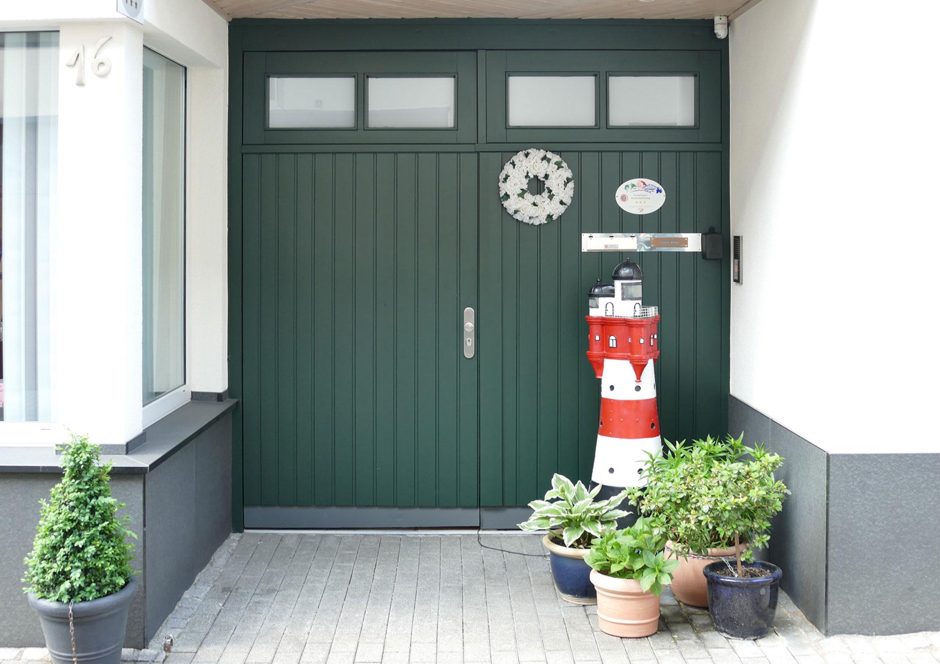 Eingangstür Ferienwohnung